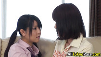 Asian lesbians tonguing