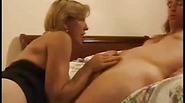 Skinny young guy seduced by lonely European housewife