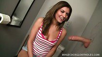 Victoria Jerks Out Hot Load At Gloryhole