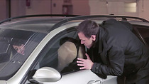 Brunette babe Annisa getting fucked by dudes stiff cock at the parking lot