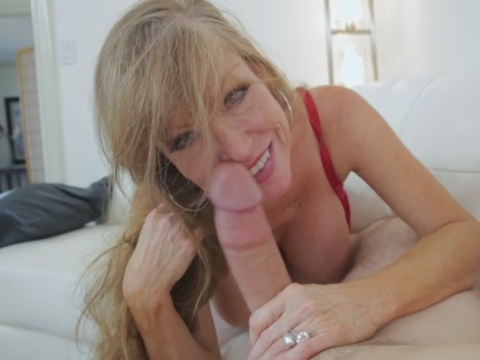 Big tits giving blowjob