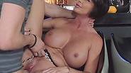 Brunette MILF with big tits Shay Fox fucked hard by an young stud