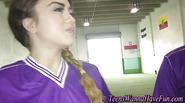 Teen soccer dykes tasting