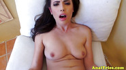 Cumshot loving anal amateur gets cum on pussy