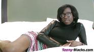Teen ebony ho face jizzed