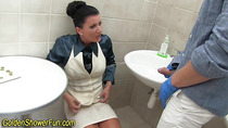 Bossy fetish slut pisses