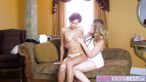 Sexy Cadey Mercury and Kagney dildo play and pussy licking