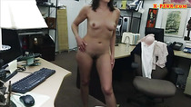 Customers wife screwed at the pawnshop