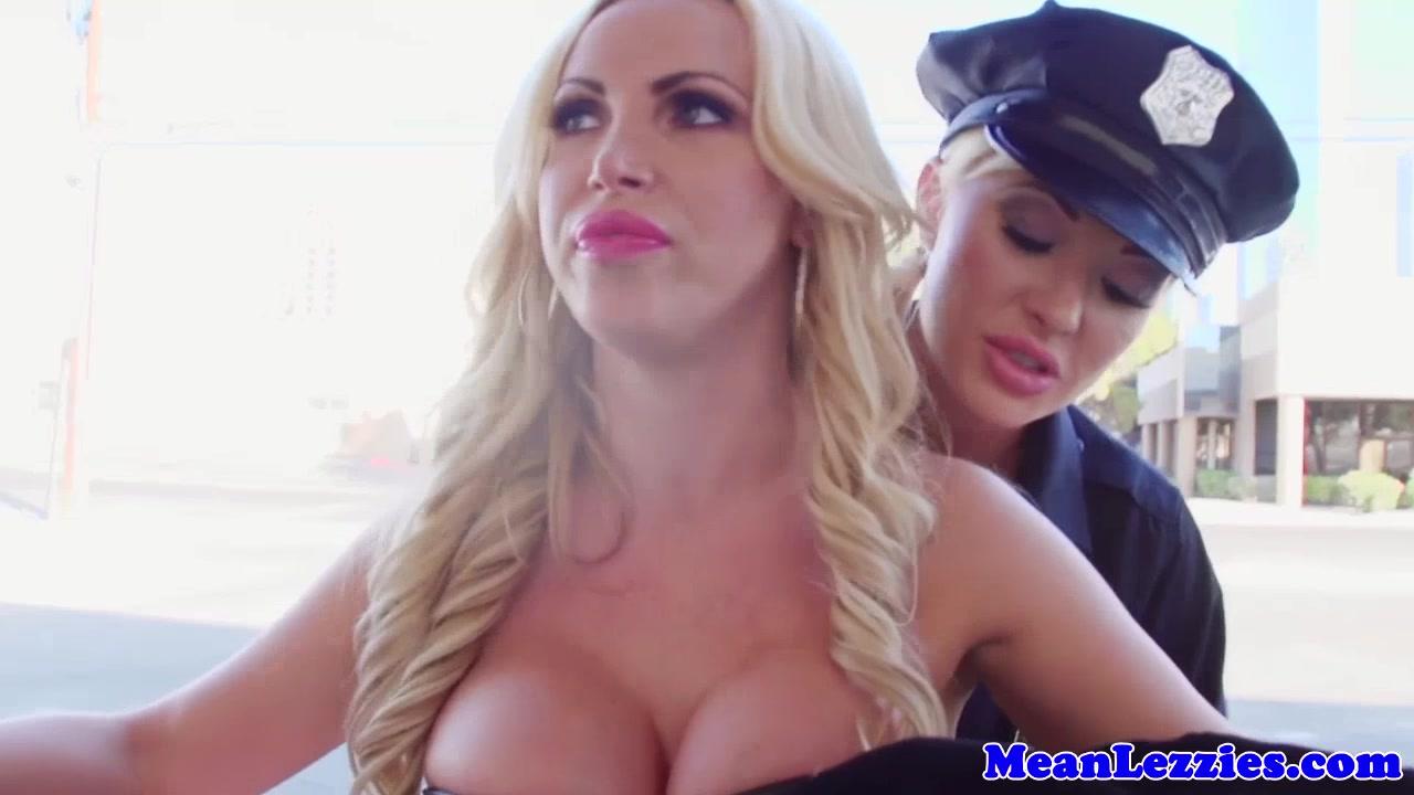 Busty lez police station sex with nikki benz 4