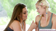 Two sexy teens licking each others twats