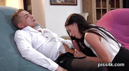 Cute cutie is geeting pissed on and squirts wet cunt