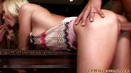 CFNM femdom gets cumshot after dominating dick