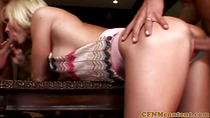 CFNM femdom gets cumshot after dominating dick