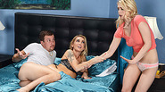 Watch horny stepmom Devon and Alli Rae gets nailed hard in threesome