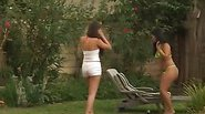 Two Lesbians Get Fucking In The Backyard
