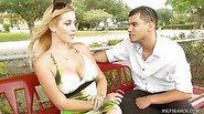 Titanic Tits on Milky-White Blond MILF Kylie Knight