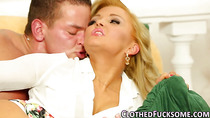 Glam blondie gets facial