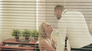 Gold digger seduces her boss at the office with dirty pictures