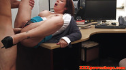 Chubby pawnshop amateur facialized after sucking