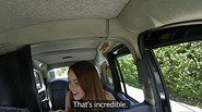 Hot redhead babe gets doggystyle fucked in the backseat