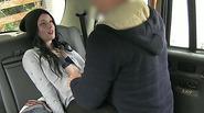 Public cab driver gets to fuck a cutie teen Alessa