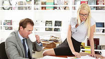 Horny office girl Vanessa gets a passionate fuck by co workers massive cock
