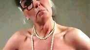 Horny granny shows her goods