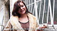 Nice tits Anna Polina shows off her tits in public for a couple of cash