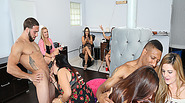 Salon surprise cock party for all the horny female