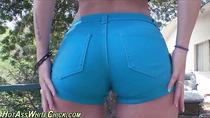Big butt slut outdoor sex