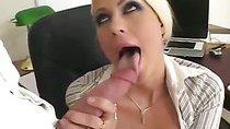 Blonde Secretary Is Wearing No Panties