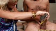 Femdom milfs in fourway tugging and fucking