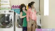 MILF Alana Cruise queens her ebony stepdaughter Mya Mays