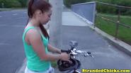 Stranded czech teen cocksucking in public