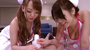 Busty asian nurse Hitomi Tanaka in threeway