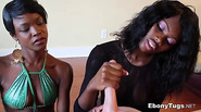 Double Handjob by Two Ebony Babes