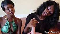 Double Handjob by Two Ebony Babes