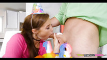 Blowing The Birthday Cock