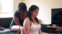 Real tied lesbo fingered