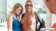 Hot blonde teen Jessa Rhodes threeway with busty stepmom