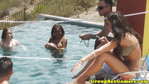Real poolparty teens interviewed after orgy