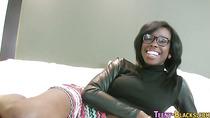 Ebony teeny face sprayed