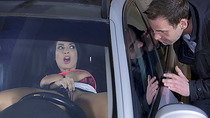 French babe Anissa Kate strips naked in the car and then gets fuck