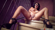 Big Ass Milf Squirts in Stairwell