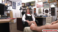 Lovely card dealer pawns her twat and fucked at the pawnshop