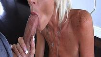 Step sons cock enjoys Olivia Blus hot blowjob