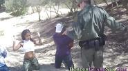 Horny latina fucks patrol