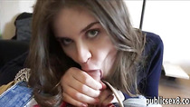 Amateur brunette Eurobabe screwed in exchange for cash