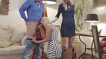 Blondes Uma And Victoria Share Teachers Big Cock