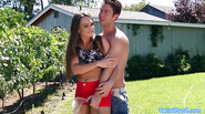 Beauty outdoors getting fucked